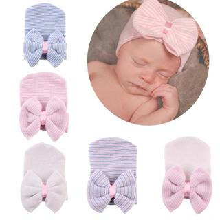 Newborn Baby Hat High Quality Infant Bebe Warm Winter Knitted Cap With Big Bow Toddler Autumn Stri