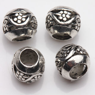 20Pcs Tibetan Silver Floral Carving Spacer Beads Jewelry Finding