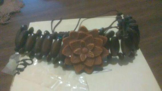 New Wooden carved bracelet
