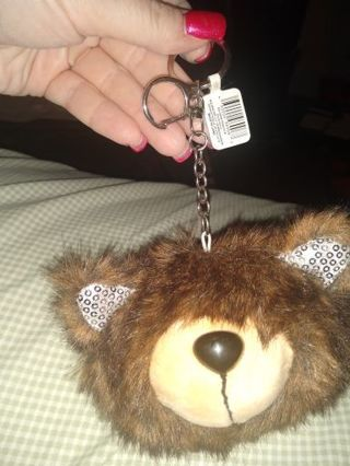 Kawaii Huge Fluffy Bear Keychain