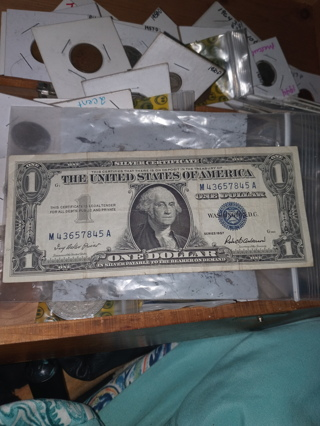 XF Series 1957 Silver Certificate Dollar Bill