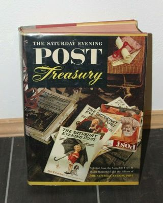 THE SATURDAY EVENING POST TREASURY (1954) 1st Printing: Hardcover w/ dust jacket