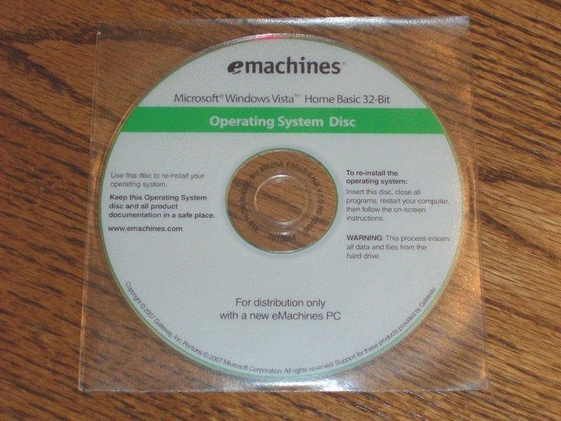Windows vista cd for sale