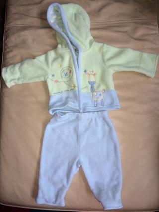 Cute Fleece Baby Outfit Unisex Boy Girl