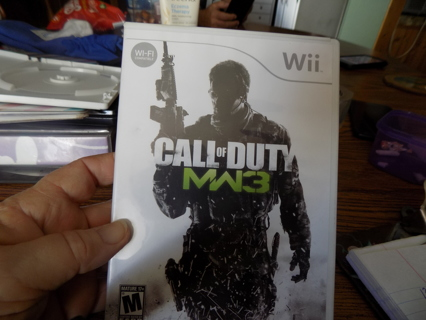 Wii Call of Duty MW3 game