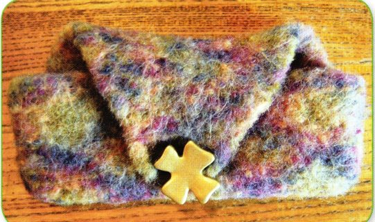 Free Felted Eyeglass Case Knitting Pattern Also Good For An Ipod