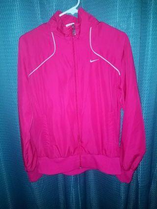 Women's pink NIKE zip up jacket. Large. Free Shipping