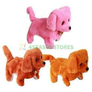 Free Lovely Electronic Walking Talking Dog Toy Sound Mimicry Kids