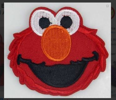 1 SESAME STREET ELMO IRON ON Patch Applique Badge Embroidered Adhesive FREE SHIPPING