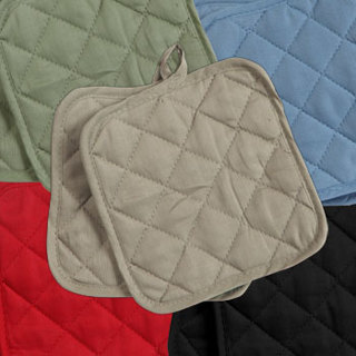 cotton-quilted pot holders