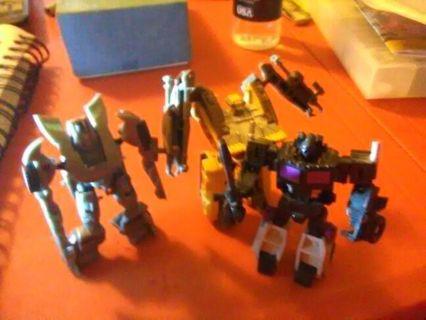 Three transformer vehicles