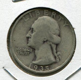 1935P-U.S. Washington Quarter-90% Silver!