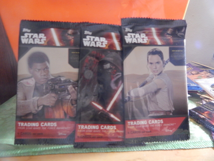 STAR WARS collectable trading cards-1 pack-NEW in pack