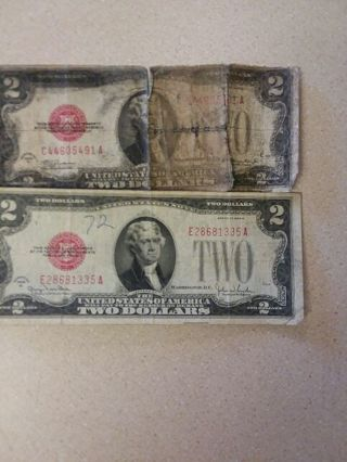 2 1928 2 dollar red seals