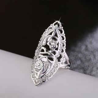 New Plum Blossom Sakura Ring Index Finger Ring Silver/Gold/Ro
