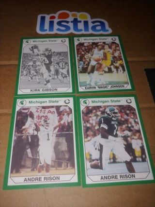 MSU GREATS!!⭐1990⭐ KIRK GIBSON⭐MAGIC JOHNSON⭐ANDRE RISON X2⭐ FREE $HIPPING