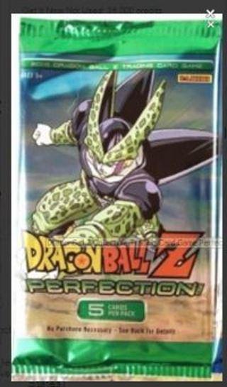 1 DragonBall Z Collectible Trading Card Game Perfection Booster Pack Cel Goku Vegeta DBZ Anime Manga