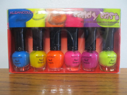 KLEANCOLOR Candy Cast Neon Nail Lacquer Mini Polish Collection NEW!
