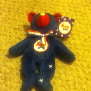 The Democratic Party Beanie Bear