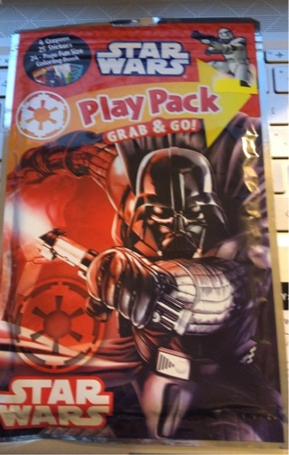 "BNIP ""Disney's: STAR WARS"" Crayons/Stickers/Coloring Book Grab/Go Play Pack."