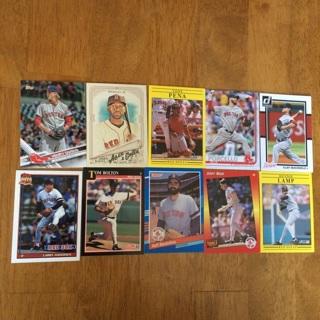 (47) Boston Red Sox Baseball Cards Lot