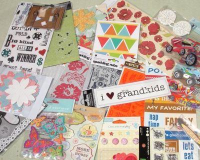 Scrapbooking, Card Making Craft Supply Grab Bag! FREE Shipping w GIN LOWERED