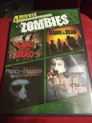 4 Zombie Movies DVD factory sealed