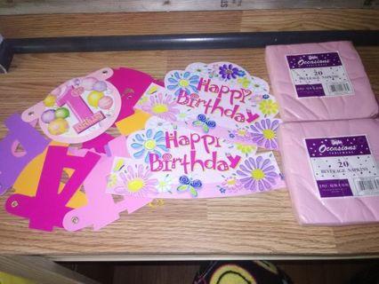 "Girls ""1st Birthday"" Lot"