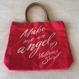 EUC Victoria's Secret Make Me An Angel Large Red Tote Bag • Free Shipping