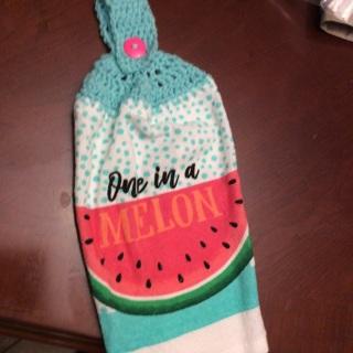 Hand Crochet Stove Towel. #WM3
