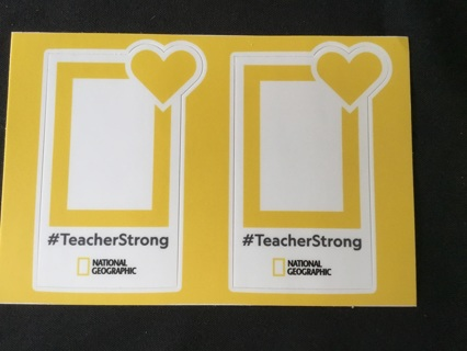 2 NATIONAL GEOGRAPHIC Picture Stickers / Decals ~ #TeacherStrong