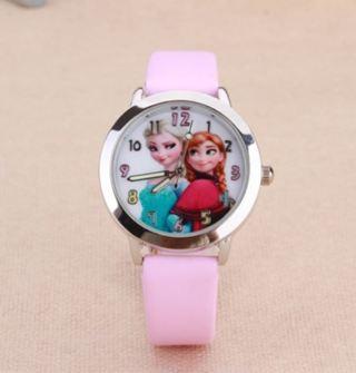 Child Watch Disney Frozen Elsa Lovely Girls Boys Quartz Wrist ELSA and ANNA Princess Style #042