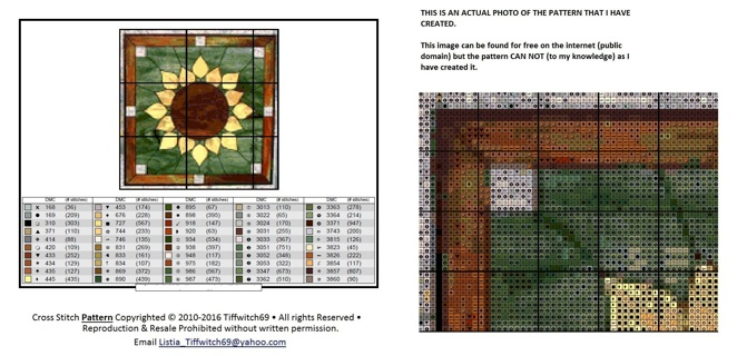 Sunflower Cross Stitch Patterns ***WINNERS CHOICE***