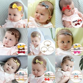 30 Colors Baby Girl's Turban Flower Headband Kids Bowknot Hair Bands Newborn Photography Accessori