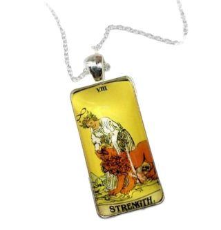 "Tarot card ""Strength"" pendant New Free Ship"
