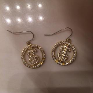 Money sign earrings