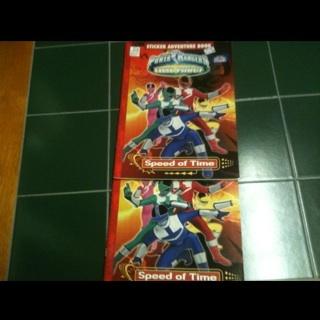 Power Rangers Time Force Sticker Adventure Book