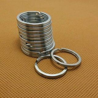Lot 10 Pcs 32mm Metal Key Holder Split Rings Unisex Keyring Keychain Keyfob Accessories