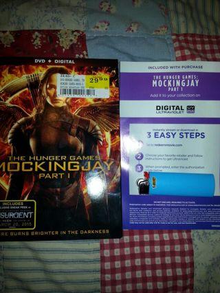 The Hunger Games MockingJay Part 1 Digital ultraviolet copy.