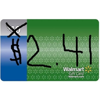 $2.41 Walmart Gift Card