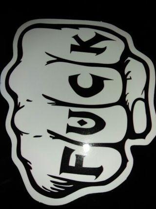 ***** fist sticker