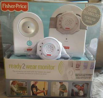 NIB - Fisher Price Ready 2 Wear Monitoring digital baby monitor