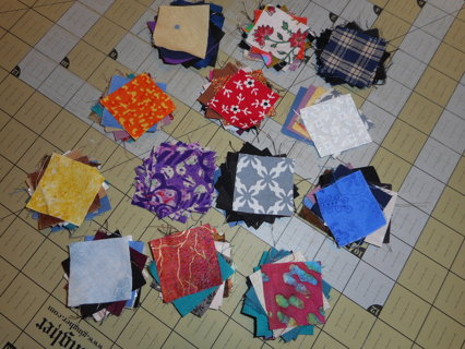 127 pre-cut mini fabric squares