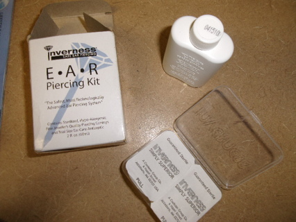 Free Inverness Safe Ear Piercing Kit Two 3 Mm Cz Earings Included