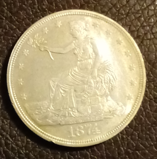 1874-P Silver Trade Dollar