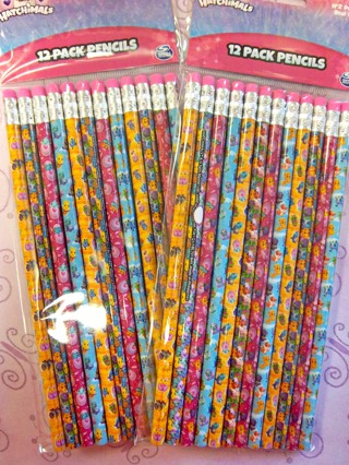 NEW - Lot/2 Packs (24 total) HATCHIMALS #2 Wood Pencils for School, Party Favors