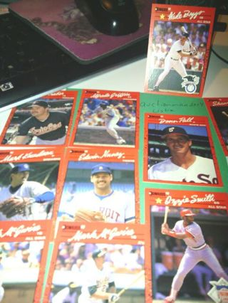 Random baseball trading cards