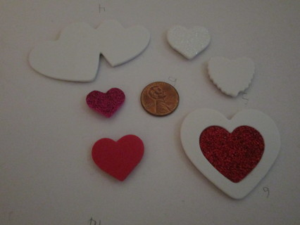 2nd 6 heart magnets