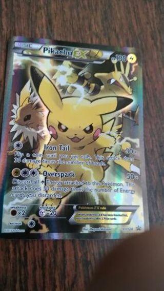 Pikachu EX Holographic Pokemon card