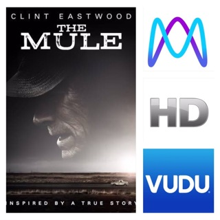 THE MULE HD MOVIES ANYWHERE OR VUDU CODE ONLY